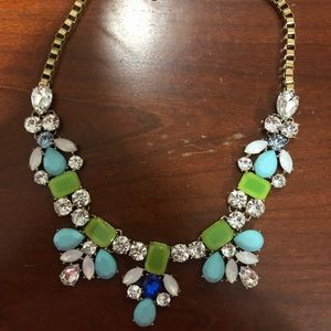Green & Blue Statement Necklace